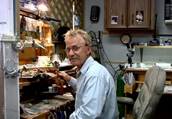 Jim, in the Jewelry repair station at Rizzo Jewelers
