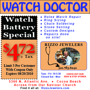 Watch Battery Coupon - PDF - for $4.72 plus tax battery replacement, good until 08/20/2016